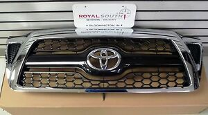 Toyota 2005 2011 Tacoma Honeycomb Chrome Grille Genuine Oem Oe New