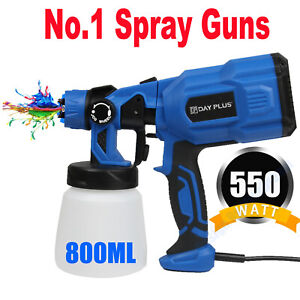 800ml Electric Airless Paint Sprayer Spray Gun Handheld Painting Diy Wall Fence