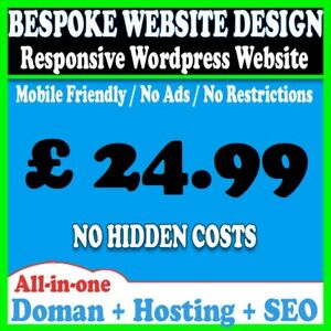 5 Pages Website Web Design Personal Business Or Blog Wordpress Domain Hosting