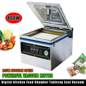 New 800w 13 Commercial Vacuum Sealer Food Sealing Machine Home Packing Pressure