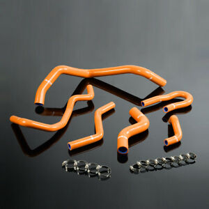 Silicone Radiator Hose Kit For 92 00 Honda Civic 1 6l Sohc D15 D16 Eg Ek Orange