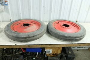 Ford 8n 8 N Tractor Front Wheels Rims And Tires