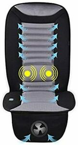 Vibration Massage Cooling Car Seat Cushion Pad With Car Fan For Car Truck Home