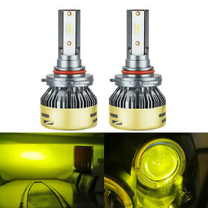 2x Hb3 9005 9145 Led Headlight Bulbs Conversion Kit Fog Light Csp 3570 Yellow