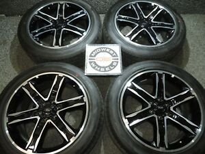 Expedition 22 Black Stealth Wheels Tires Hankook At P285 45r22 F150 2004 2021