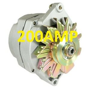 200amp High Amp Alternator Self Exciting 1 Wire System For Chevy Gm Buick