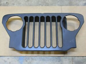 Grill Civilian Style 7 Slot New Fits Willys Cj2a Cj3a Jeep G503