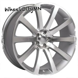 22 Silver Machine Chrysler 300 Oe Replica Wheels Dodge Charger Challenger 5x115