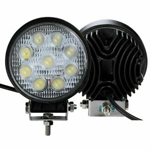 27w 5inch Led Round Work Light Spotlight Off road Driving Fog Lamp Truck Boat Us
