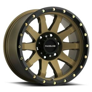 New Set Of 4 Raceline Wheels Clutch 17x9 8x165 1 12 Bronze