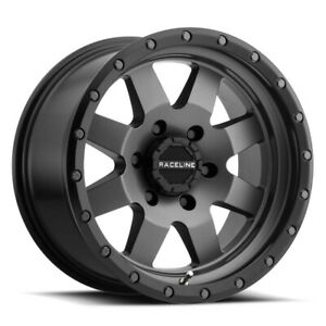 New Set Of 4 Raceline Wheels Defender 17x9 5x139 7 12 Gunmetal