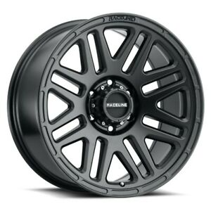 New Set Of 4 Raceline Wheels Outlander 18x9 6x139 7 12 Black