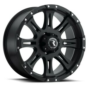 New Set Of 4 Raceline Wheels Raptor 18x9 8x165 1 6 Black