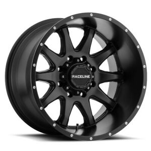 New Set Of 4 Raceline Wheels Shift 17x8 6x120 35 Black