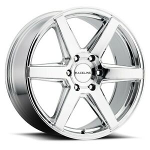 New Set Of 4 Raceline Wheels Surge 18x8 6x139 7 35 Chrome