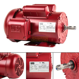 1 5 Hp Farm Duty Electric Motor 56h Frame 1745rpm Single Phase Tefc Weg 115 230v
