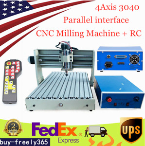 4 Axis Cnc 3040 Router Engraver 3d Milling Wood Engraving Machine controller Us
