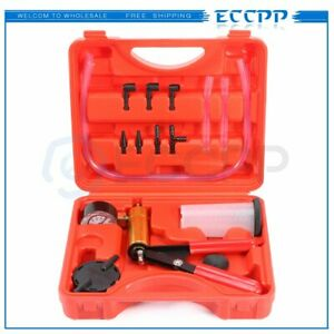 New Car Hand Held Vacuum Pressure Pump Tester Kit Brake Fluid Bleeder W Box