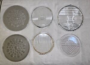 Lot Of 13 Antique Headlight Lenses willys Knight ford queens Lens national