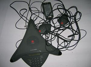 Polycom Soundstation Premier Conference Phone 2201 01900 001 W Mics S1