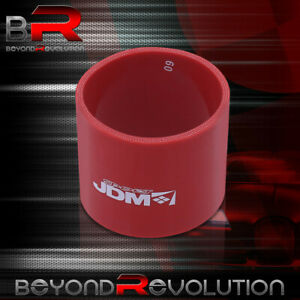 2 Od Straight Red Silicone Coupler Hose Adapter Turbo Forced Induction Upgrade