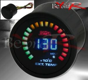 Universal Egt 2 52mm Digital Blue Led Exhaust Temperature Racing Monitor Gauge