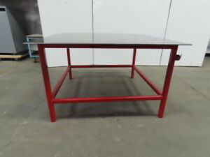 3 8 Thick Top Steel Fabrication Welding Table Work Bench 61 x60 1 2 x36 1 2