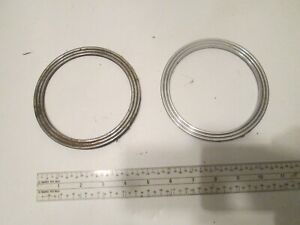Auto Vintage Packard Interior Parts 2 Chrome Rings For Dash Or Door Panels Oem