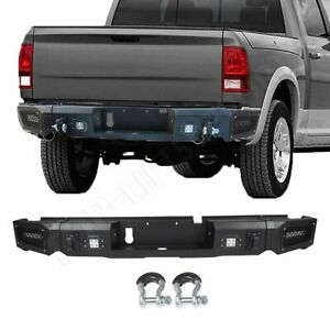 New Complete Step Rear Bumper Steel For Dodge Ram 1500 2013 2018 W light