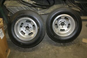 Vintage Chevy 15x10 Slot Mag Wheels 15 Rims Super Charger N50 15 Tires