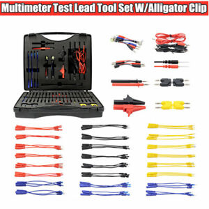 Car Multimeter Test Lead Kit Electronic Tool With Alligator Clip Probe Device