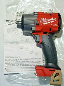 New Milwaukee M18 Fuel 3 8 Drive Mid torque 650 Ft lb Impact Wrench 2960 20