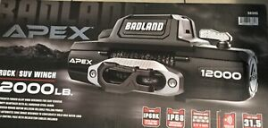 Badland Apex Synthetic Rope 12 000 Lbs Wireless Winch d109