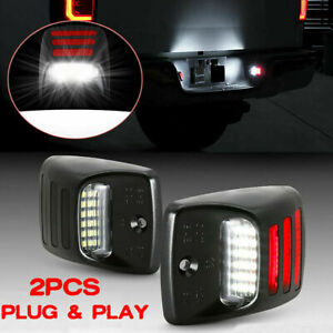 2x Red Oled Neon Tube Led License Plate Light For Toyota Tacoma Tundra 2005 2015