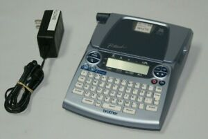 Brother Pt 1880 P touch Thermal File Label Maker Printer Blue With Ac Adapter