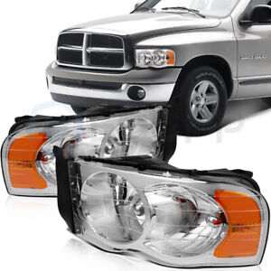 For Dodge Ram 1500 3500 2003 2005 Headlights Assembly Driver Passenger Replace