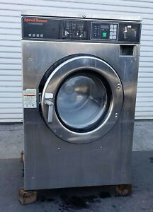 Speed Queen Front Load Washer Coin Op 40lb 208 240v P n 0801008152 refurb
