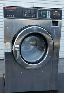 Speed Queen Front Load Washer Coin Op 40lb 208 240v 1ph S n 0801008152 ref