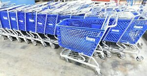 Sears Grocery shopping Carts With Basket Steel metal Blue Excellent Condition