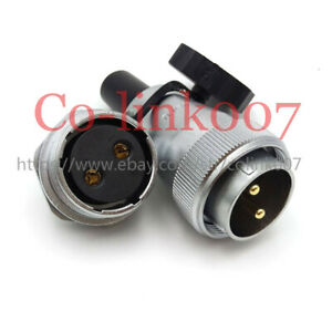 Ws28 2pin Aviation Connector 50amp Industrial Electrical Power Cable Connector