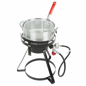 Fish Fryer 10 Qt Basket Lp Outdoor Patio Camping Fish Filets Fries Chicken Wings