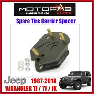 Motofab Spare Tire Carrier Spacer For 1987 2018 Jeep Wrangler Jk Tj Yj 2wd 4wd