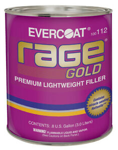 Rage Gold Premium Lightweight Body Filler Gallon Fib 112
