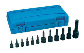Assorted Drive 12 Piece Int Star Impact Driver Set Gry 1234t