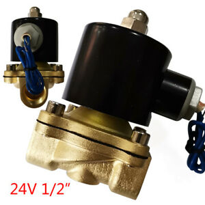 24v 1 2 Npt Brass Electromagnetic Valve 2 way Solenoid Valve Normally Closed