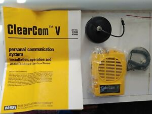 New Open Box Msa Clearcom V Amplifier Kit 474499 Complete Communication System