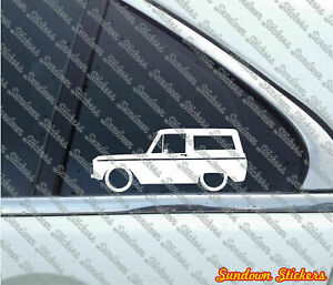 2x Lowered Truck Stickers For Ford Bronco 1966 1977 Vintage Classic