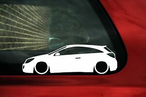 2x Lowered Car Stickers For Opel Astra H Opc Mk5 3 Door