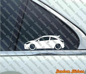 2x Lowered Car Stickers For Opel Corsa E Opc