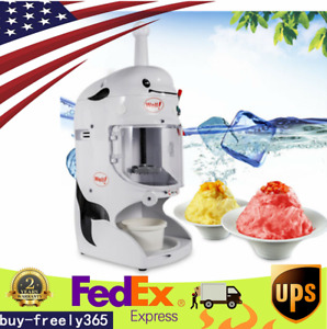 350w Electric Ice Shaver Machine Snow Cone Maker Automatic Crusher Commercial